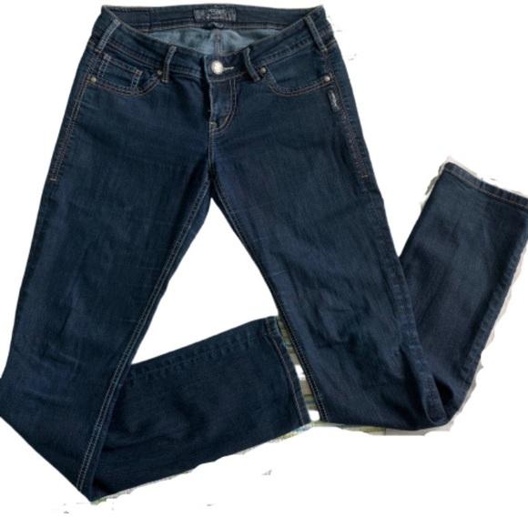 Silver Jeans Denim - Silver Berkley dark wash long straight jeans